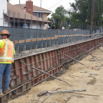 Formwork and Pour for Barrier Rail SW